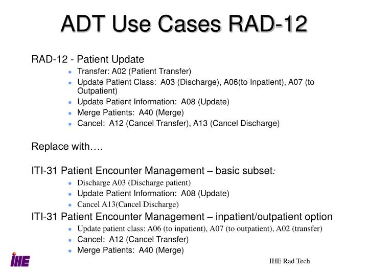 ADT Use Cases RAD-12
