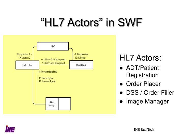 """""""HL7 Actors"""" in SWF"""