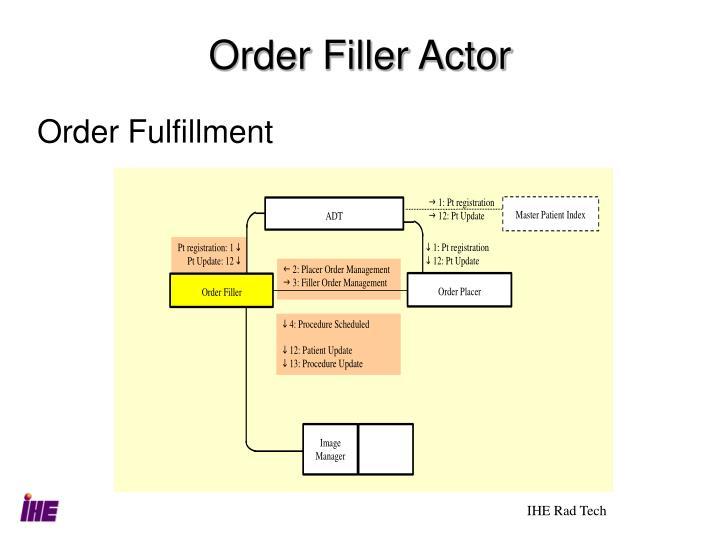 Order Filler Actor
