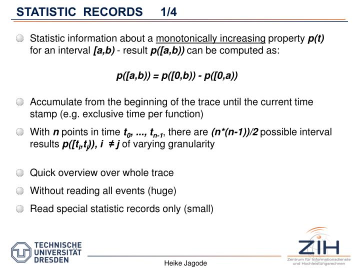 STATISTIC  RECORDS1/4