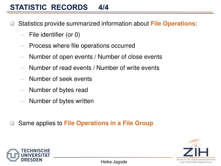 STATISTIC  RECORDS4/4