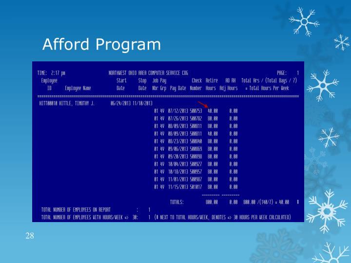 Afford Program