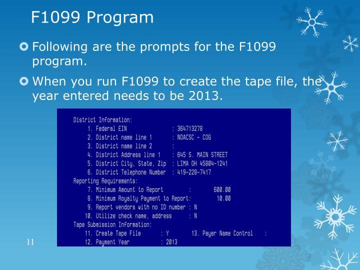F1099 Program