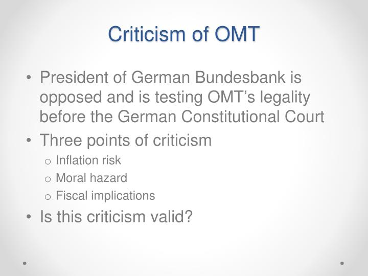 Criticism of OMT