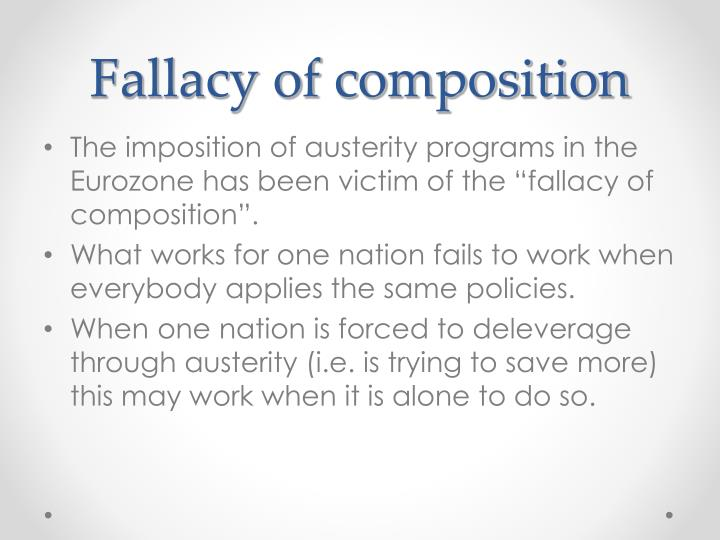 Fallacy of composition