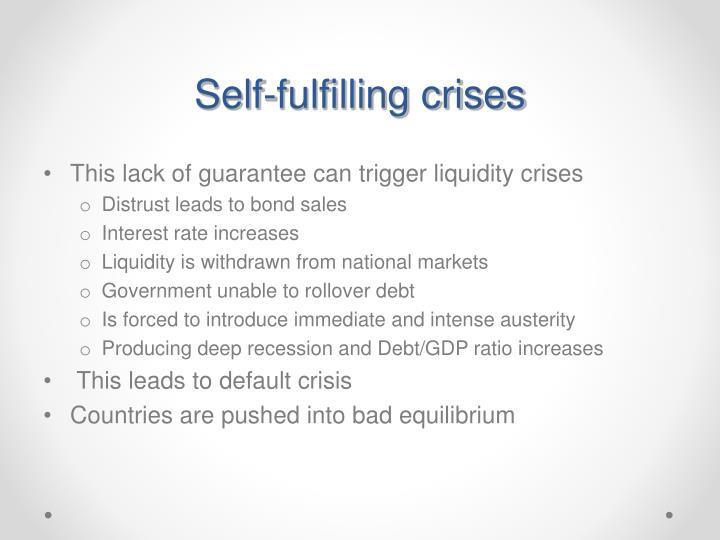 Self-fulfilling crises