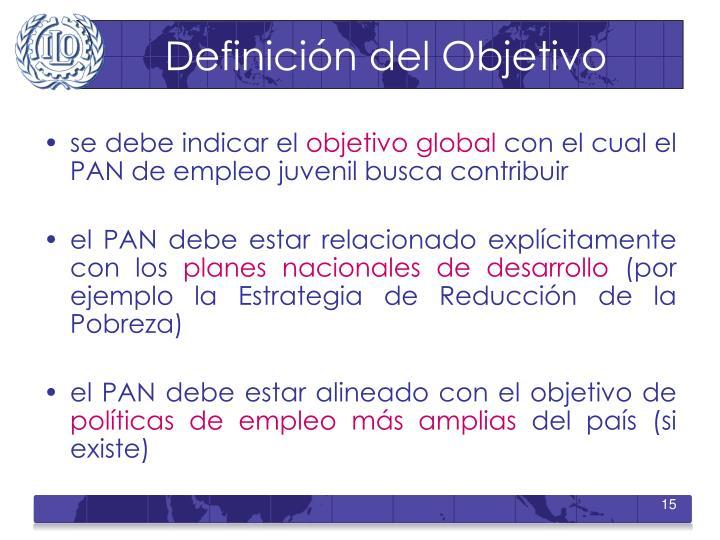 Definición del Objetivo