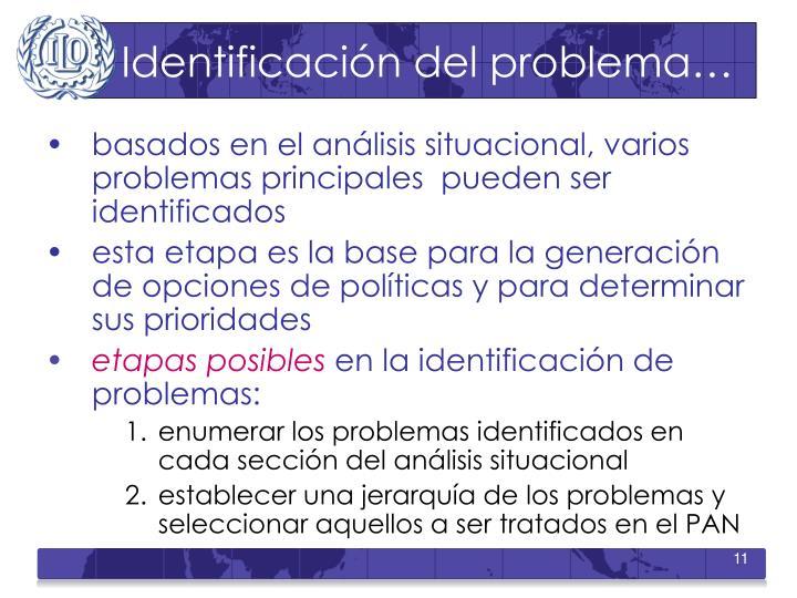 Identificación del problema…