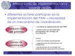 mecanismo de implementaci n y coordinaci n