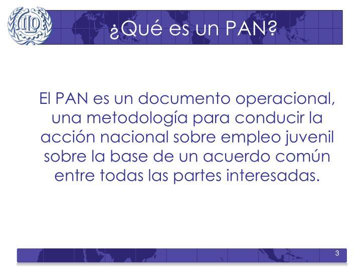 ¿Qué es un PAN?