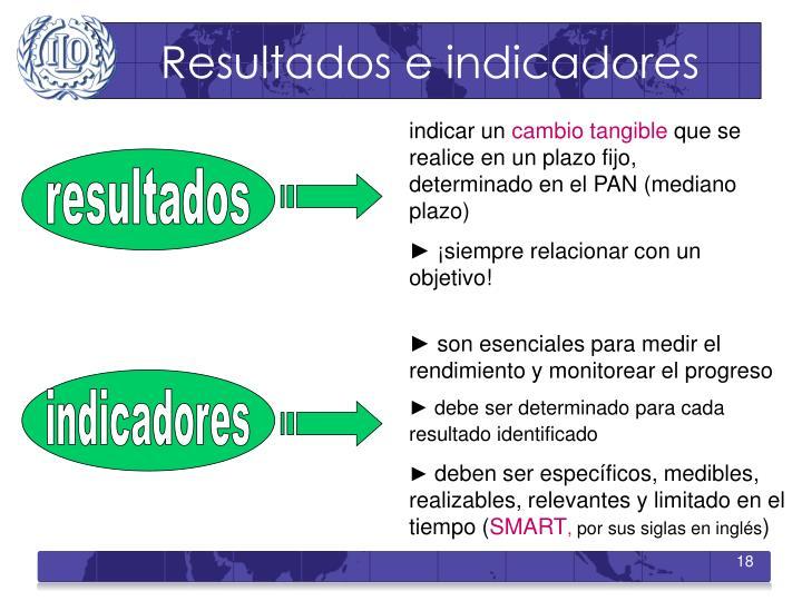 Resultados e indicadores