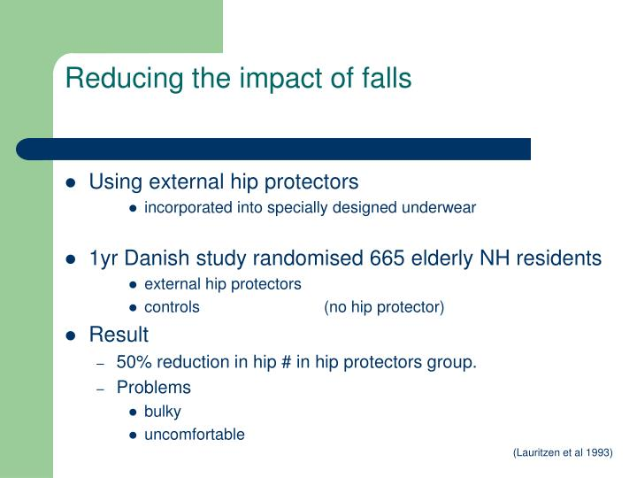 Reducing the impact of falls