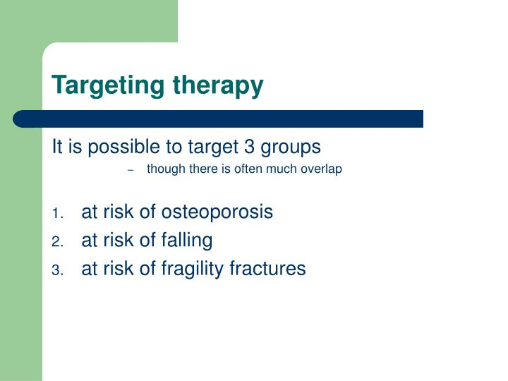 Targeting therapy