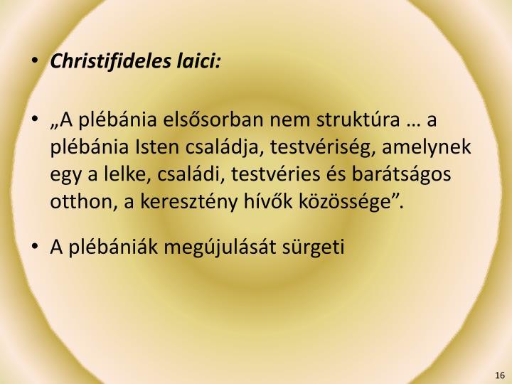 Christifideles laici: