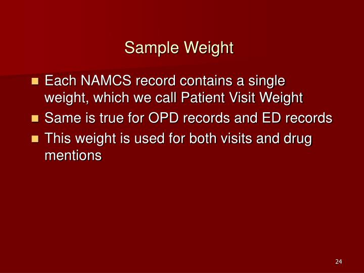 Sample Weight