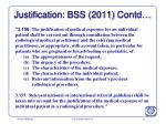 justification bss 2011 contd