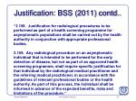 justification bss 2011 contd1