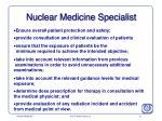 nuclear medicine specialist