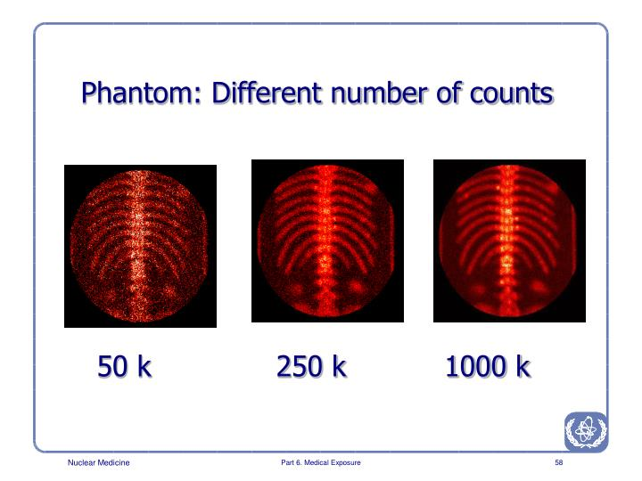 Phantom: Different number of counts