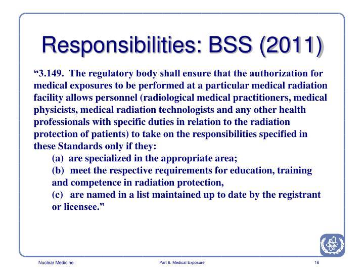 Responsibilities: BSS (2011)