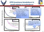 opd invariance breakdown is small relative to turbulence