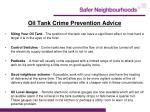 oil tank crime prevention advice