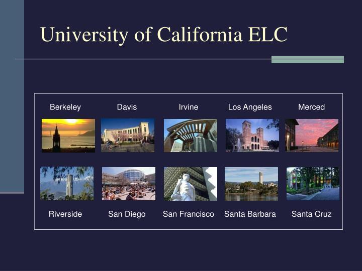 University of California ELC