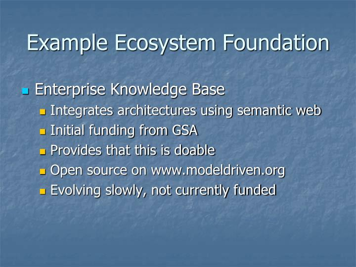 Example Ecosystem Foundation