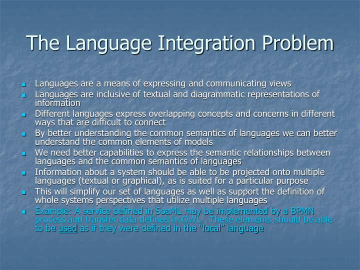 The Language Integration Problem