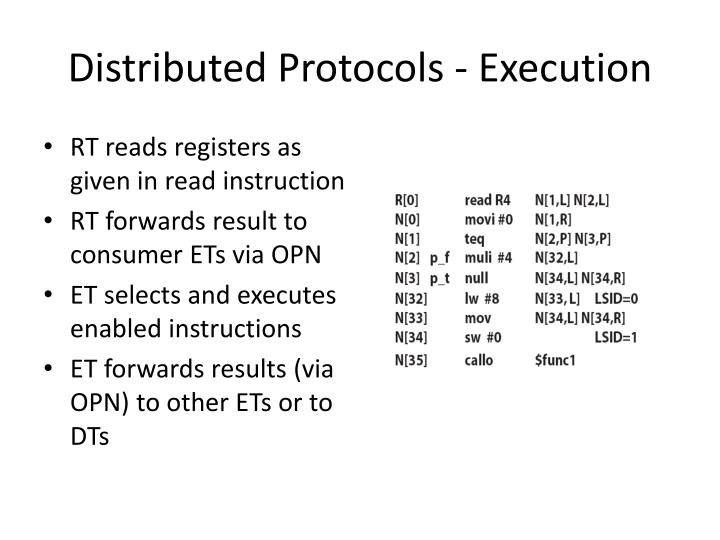 Distributed Protocols - Execution