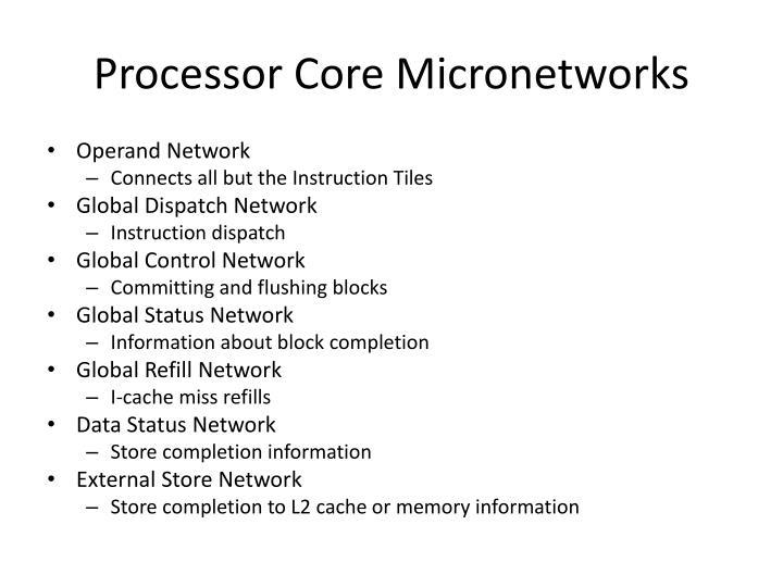 Processor Core Micronetworks