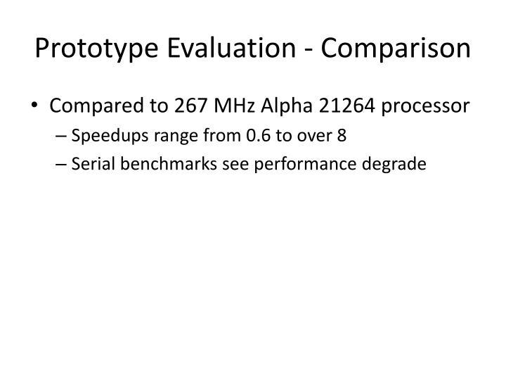 Prototype Evaluation - Comparison