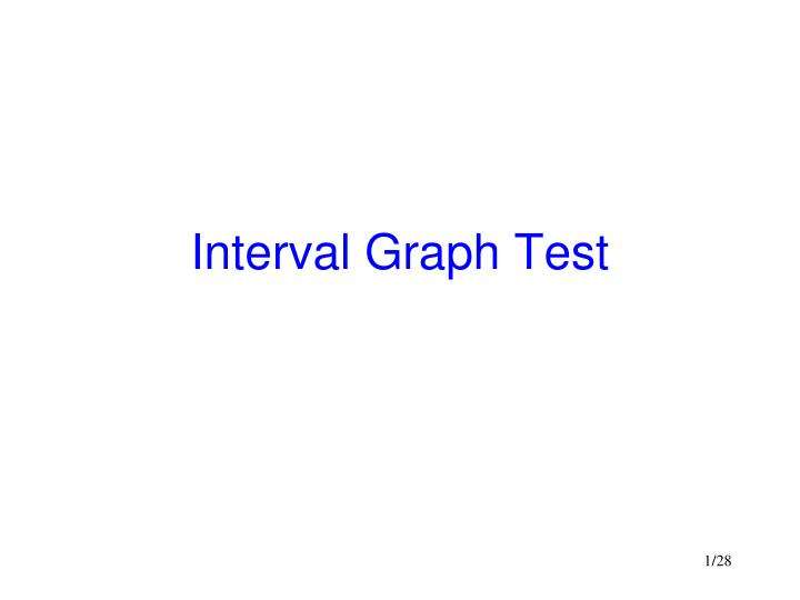 Interval graph test