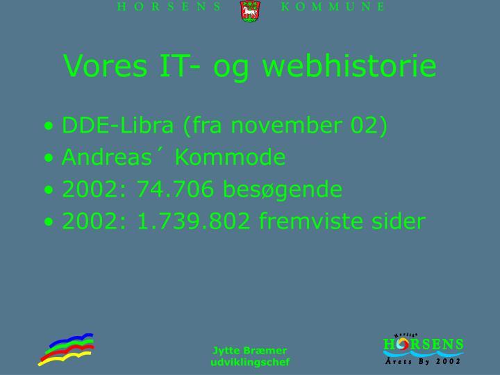Vores IT- og webhistorie