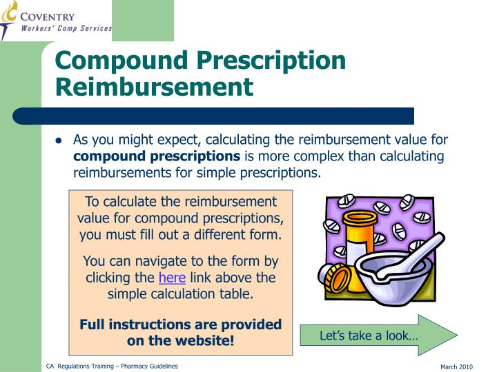 As you might expect, calculating the reimbursement value for