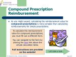 compound prescription reimbursement