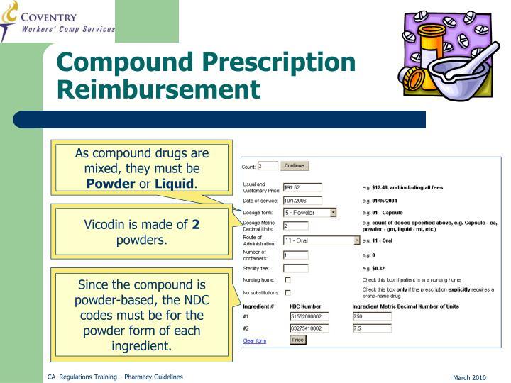 Compound Prescription Reimbursement