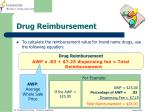 drug reimbursement