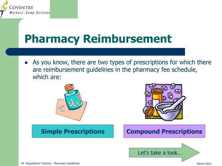 Pharmacy Reimbursement