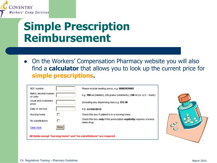 On the Workers' Compensation Pharmacy website you will also find a