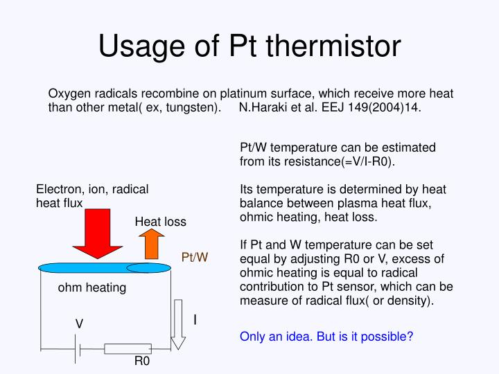 Usage of Pt thermistor