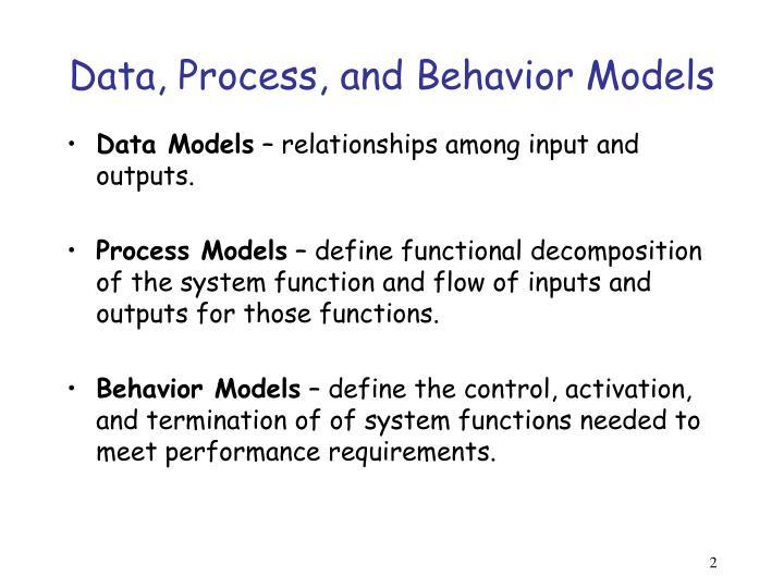 Data, Process, and Behavior Models
