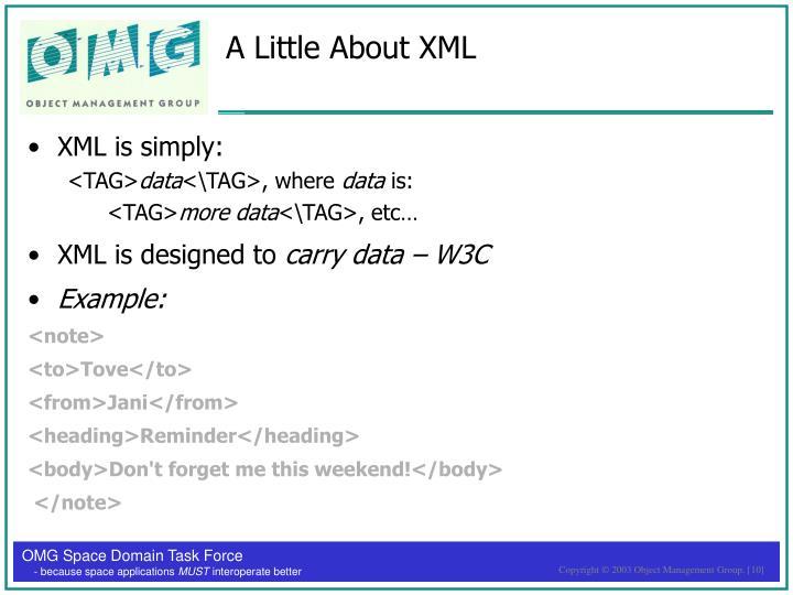 A Little About XML