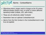 alarms contextalarms
