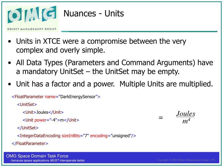 Nuances - Units