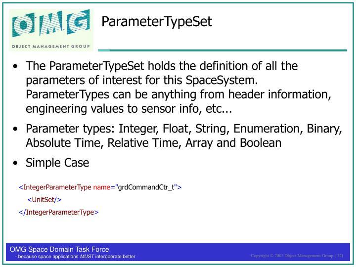 ParameterTypeSet
