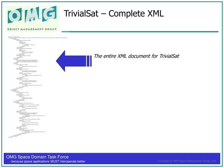 TrivialSat – Complete XML