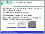 xtce simple to complex