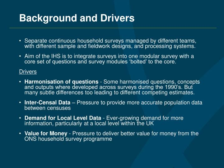 Background and Drivers