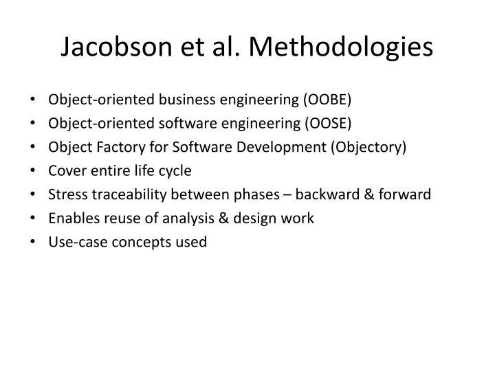 Jacobson et al. Methodologies